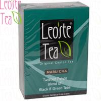 """Чай LEOSTE """"MARU CHA"""" """"Мару Ча"""" Смесь чёрного и зелёного скрученных листьев"""