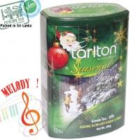 """Чай TARLTON """"Frosty The Snow Man Blend"""" """"СНЕГОВИК"""" Музыкальная коллекция, Зеленый OPA Цейлонский с Клюквой и Саусепом в ж/б 200 г"""