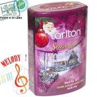 """Чай TARLTON """"Silent Night Blend"""" """"Тихая Ночь"""" Музыкальная коллекция, чёрный OP1 Цейлонский с Клюквой и Бергамотом в ж/б 200 г"""