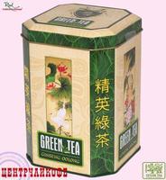 """Real """"Райские Птицы"""" Оолонг с измельченным корнем женьшеня, чай Зеленый Китайский """"Женьшень Улун"""" (в жести) 150 г"""