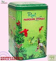 """Real """"Райские Птицы"""" чай зелёный Pekoe Цейлонский элитный (в жестяной банке) 200 г"""