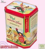 """Real """"Райские Птицы"""" чай Чёрный О.П.А. крупнолистовой (в жестяной банке) 250 г"""