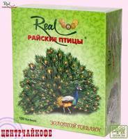 """Чай Real """"Райские Птицы"""" зеленый с ароматом сау-сэпа """"Золотой павлин"""" 100 пакетов x 2 г"""