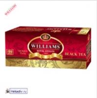 "Чай WILLIAMS ""Royal Ceylon"" черный Цейлонский пакетированный на чашку 25 пакетов x 2 г"