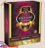 """Чай WILLIAMS """"Ceylon Sunrise"""" """"Цейлонский Рассвет"""" Чай черный цейлонский высокогорный (high grow) 100 пакетов по 1,5г"""