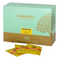 """Чай HELADIV """"Professional Line BLACK"""" чёрный в пакетиках САШЕ 100 пакетов x 2 г"""