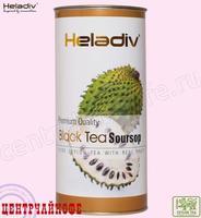 """Чай Heladiv """"Black Tea Soursop"""" черный Цейлонский с Сау-сэпом (туба) 100 г"""