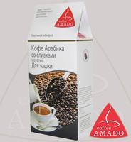 "Кофе AMADO ""Арабика со сливками"" молотый для чашки Арабика 100%"