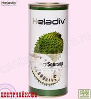 """Чай Heladiv """"Green Tea Soursop"""" зелёный с Сау-Сэпом (туба) 100 г"""