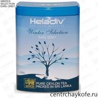 """Чай HELADIV """"Winter Selection"""" """"EARL-GREY"""" черный Цейлонский ароматизированный Пеко бергамотом 100 г"""