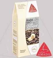"""Кофе AMADO """"Арабика с белой шоколадной стружкой"""" молотый в коробке, Арабика 100%"""
