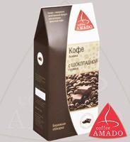 """Кофе AMADO """"Арабика с шоколадной стружкой"""" молотый в коробке Арабика 100%"""