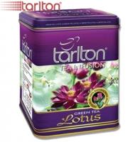 "Чай TARLTON ""Green Tea LOTUS"" зелёный цейлонский чай с Лотосом в ж/б 250 г"
